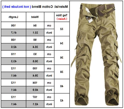 Camping Hiking Army Combat Military Camouflage Pants Casual