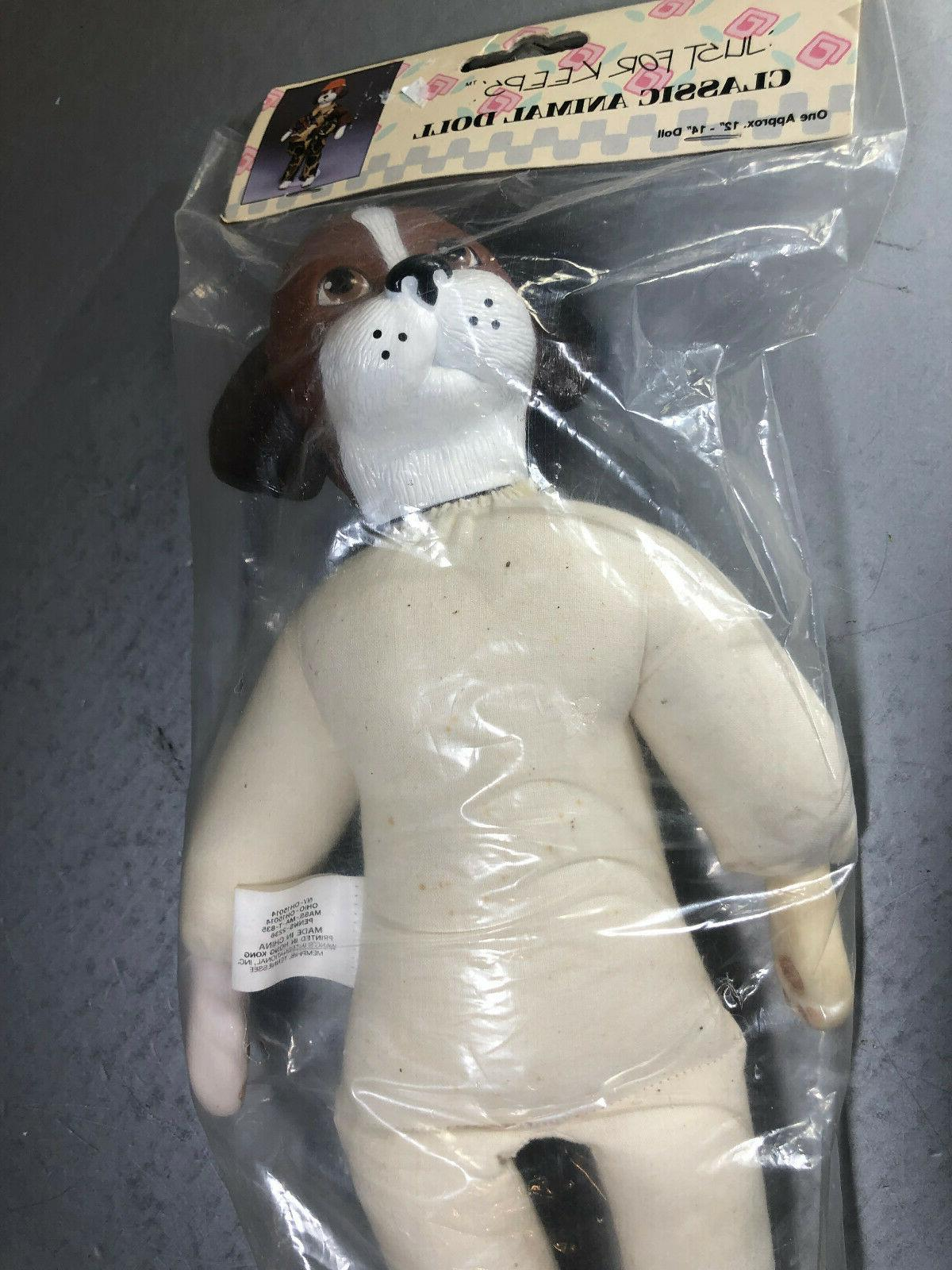 """Just Animal Doll 13"""" Hobby Puppy Hunting"""