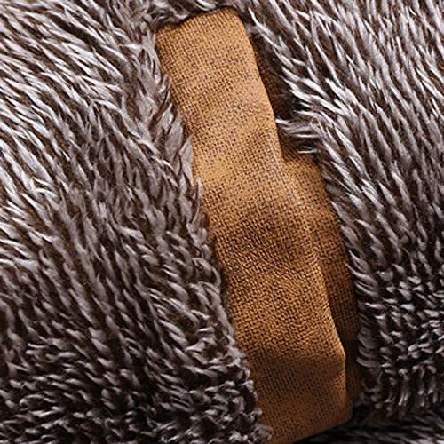 Hot Clearance! Mens Thermal Leather Slim Fit Button Winter Casual Outwear