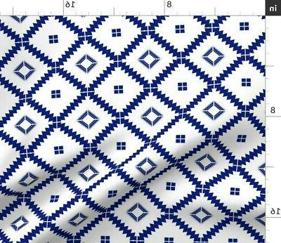 Cloth Placemats Mid Modern Tile Moroccan Set 2
