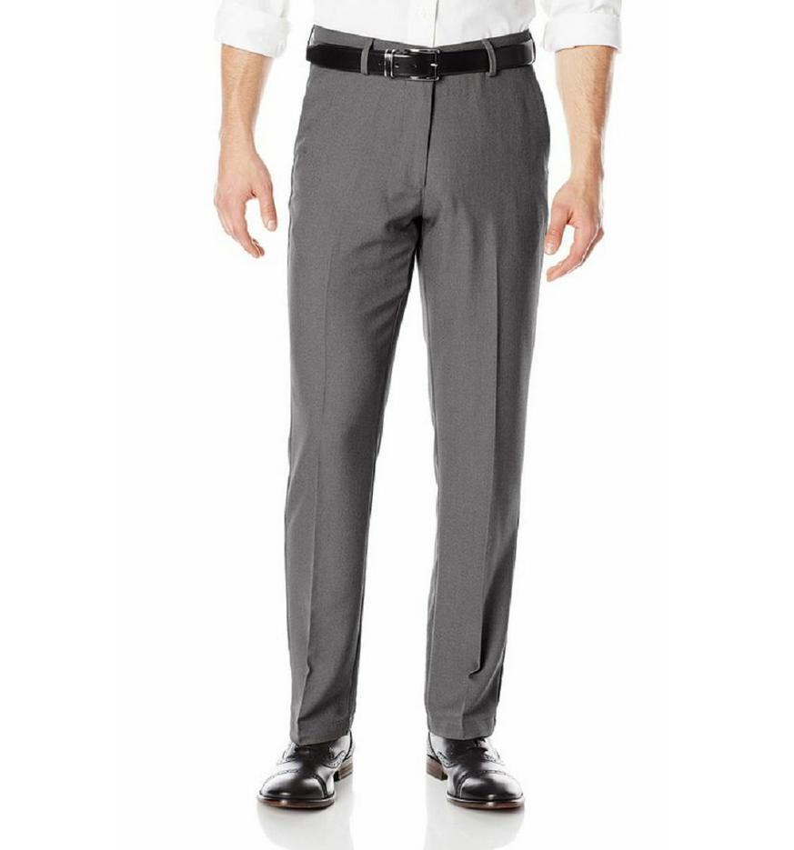 Haggar Men's Sustainable Stretch Flat Pants, Var