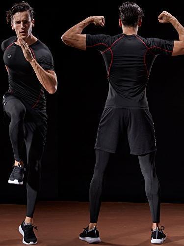 Neleus Men's Baselayer Athletic Piece,Black,US S,EU