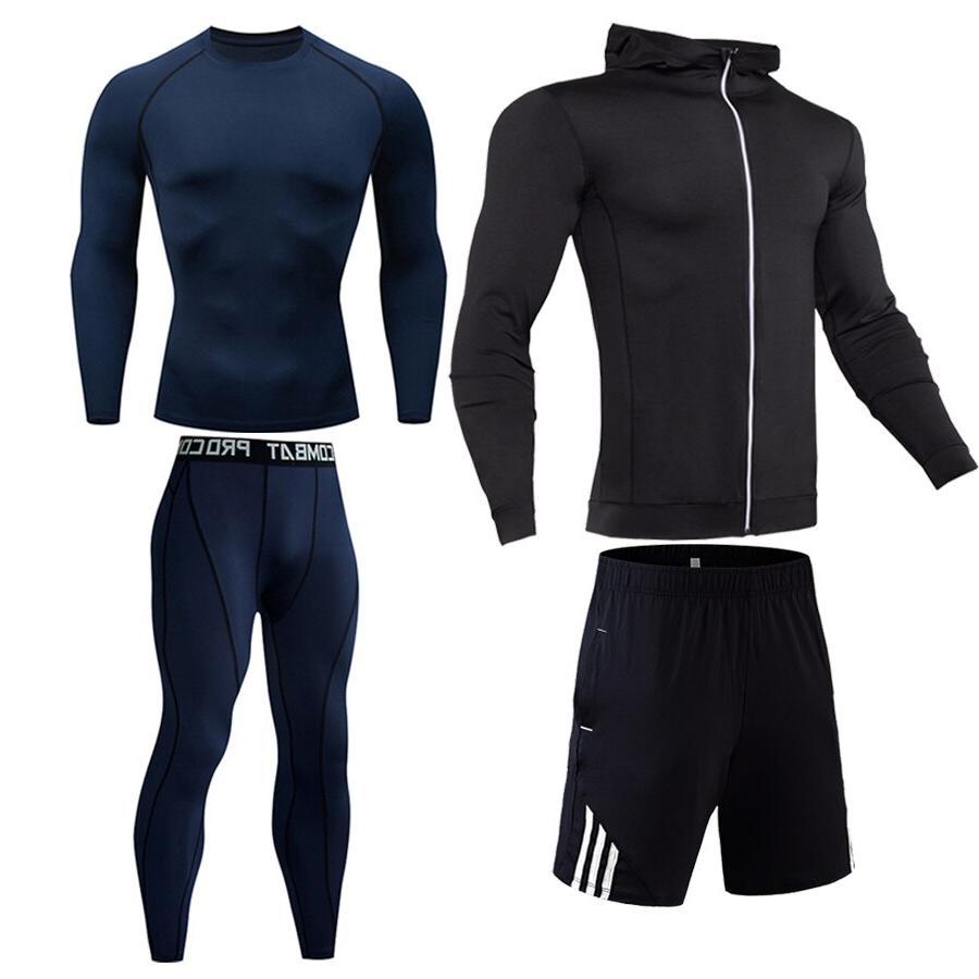 Compression <font><b>cycling</b></font> base layer Gym Outdoor suit jogging suit S-XXXXL