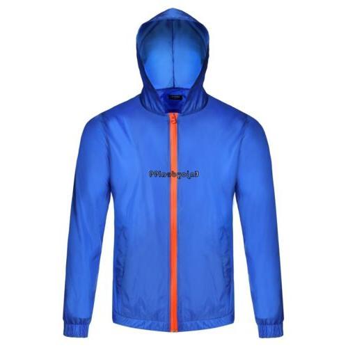 COOFANDY Men Long Sleeve Hooded Pure Color Zipper Closure Th