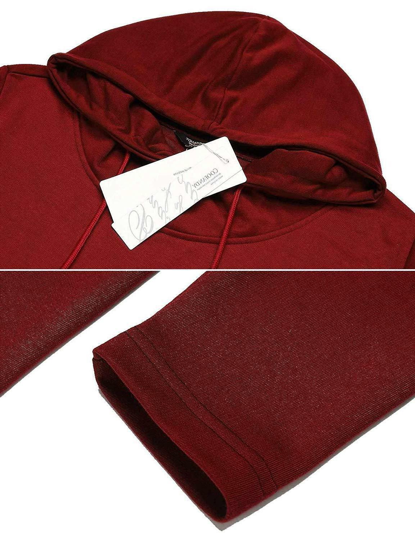 COOFANDY Poncho Cloak Hem Hoodie Pullover