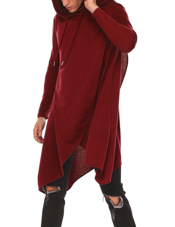 coofandy mens casual hooded poncho cape cloak