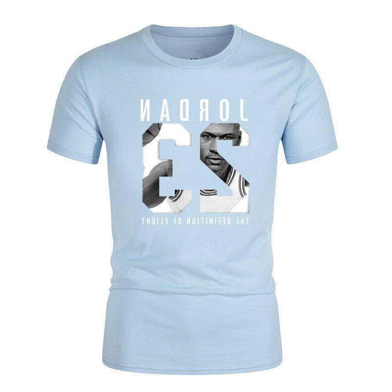 Cotton Jordan 23 Letter T-shirt Tee