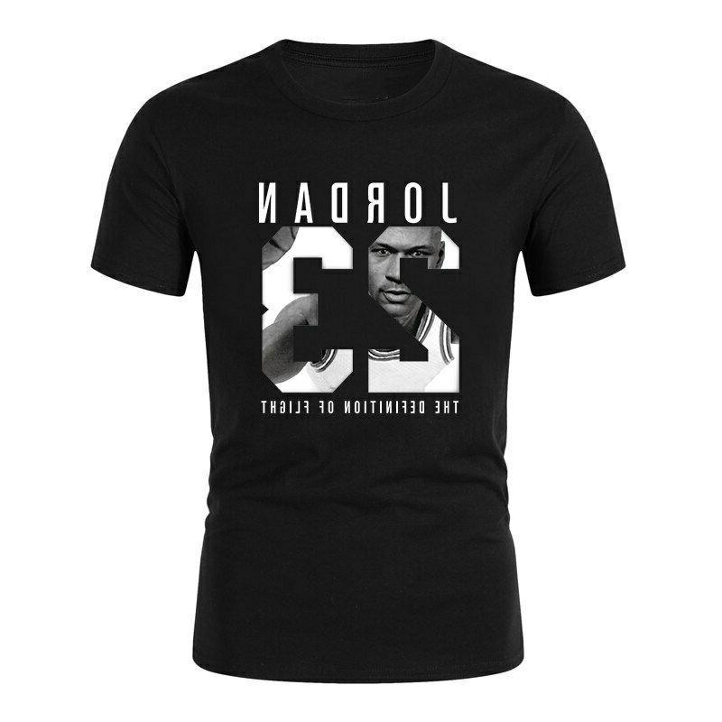 cotton men jordan 23 print t shirt