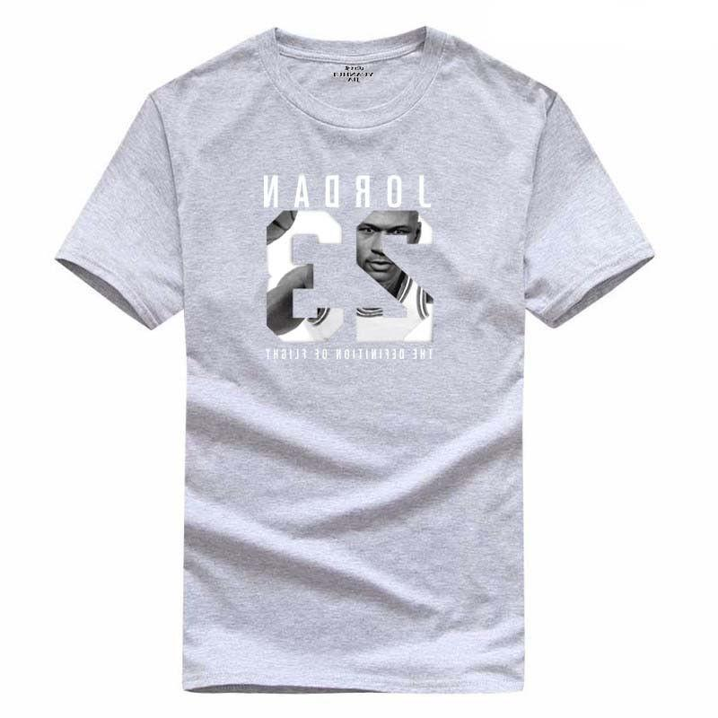 Cotton Men Jordan 23 Print tshirt Men Sports T-shirt Swag Tee