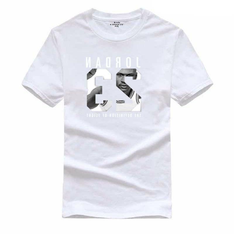 Cotton Jordan Print Men T-shirt Swag Tee