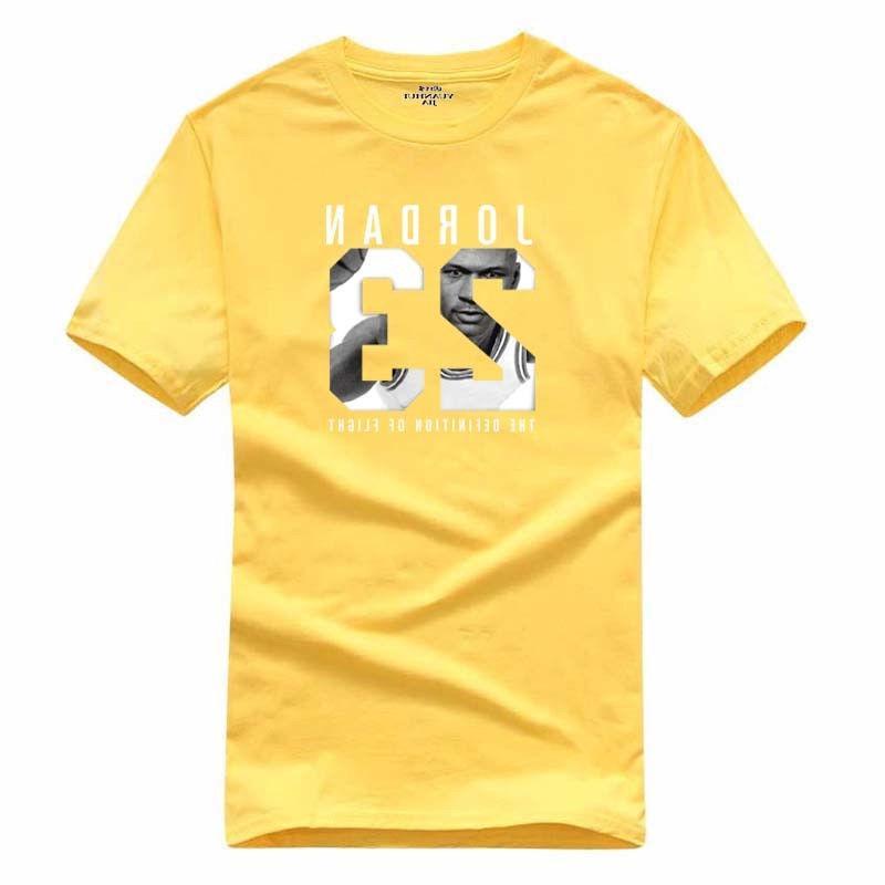 Cotton Men Jordan Print tshirt Men Sports Tee