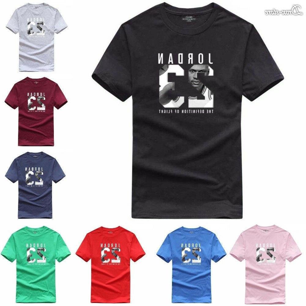cotton men jordan 23 print tshirt brand