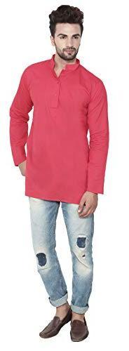 Cotton Mens Short Kurta Shirt India Clothes