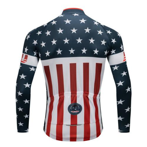 USA Long Cycling Jersey MTB Clothes Cycling Clothing