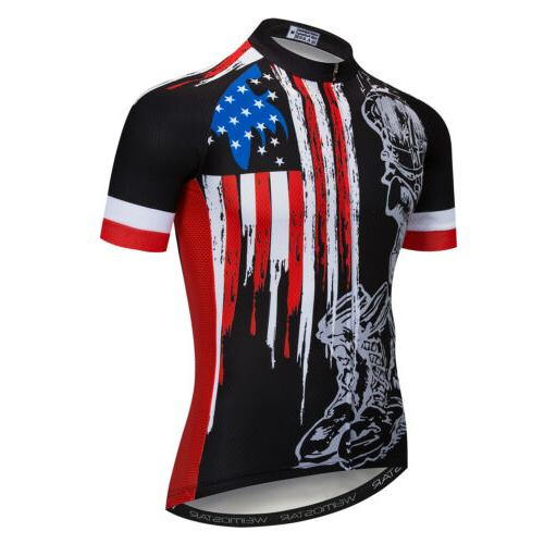 2019 Skull Cycling Jersey Men Short Sleeve Mountain Dry Clothes