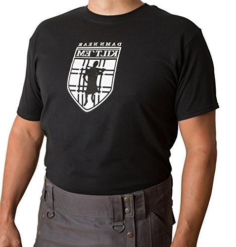 damn near kilt em logo shirt