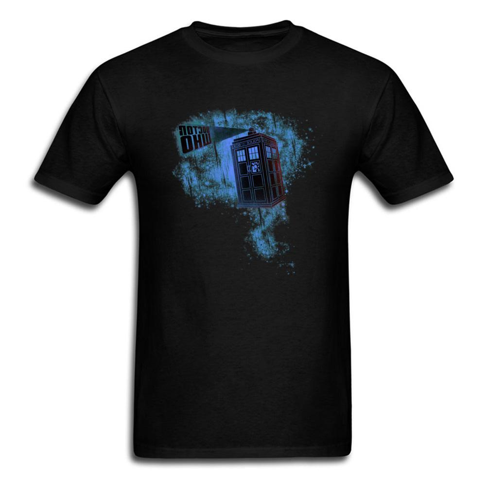 Doctor Who Tardis Tshirts 3D Dr Dalek T Cotton Black <font><b>Fashion</b></font> <font><b>Clothing</b></font> Exterminate Man