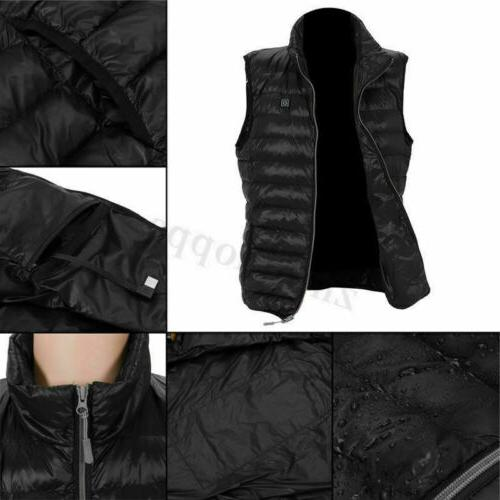 Electric Heated Jacket USB Warm Body Winter Clothing 3XL