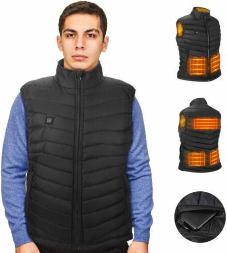 electric heated vest jacket usb warm heating