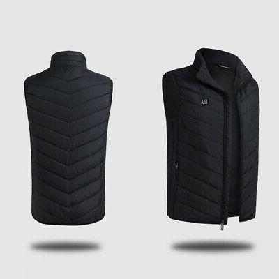 Electric USB Heated Jacket Coat Warm Up Heating Pad Warmer Men