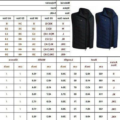 Electric Vest Jacket Up Heating Warmer
