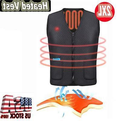 electric usb heated warm vest men women