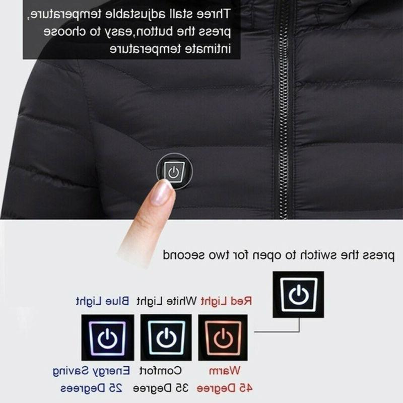 Electric USB Men Women Winter Warm Coat Heating Jacket Clothing