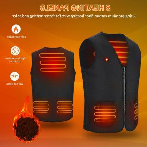 Electric USB Warm Vest Heating US