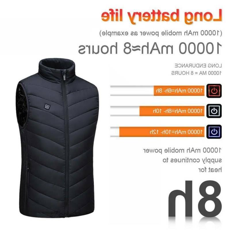 Electric Vest Jacket Heating Warmer US