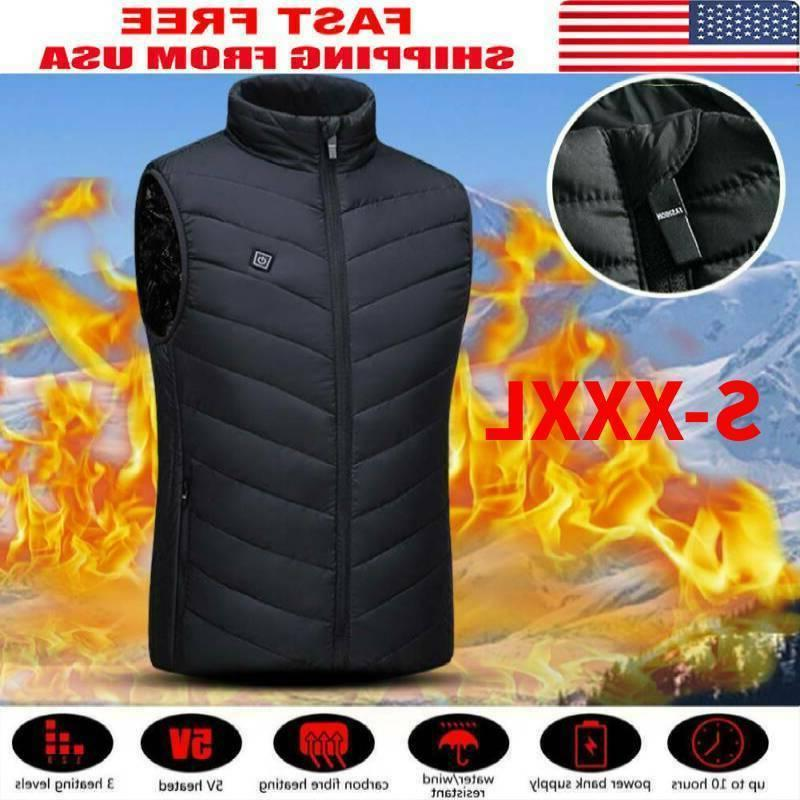 electric vest heated cloth jacket usb warm