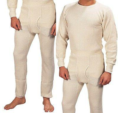 Extra Heavyweight Thermal Knit White Underwear - Long John W