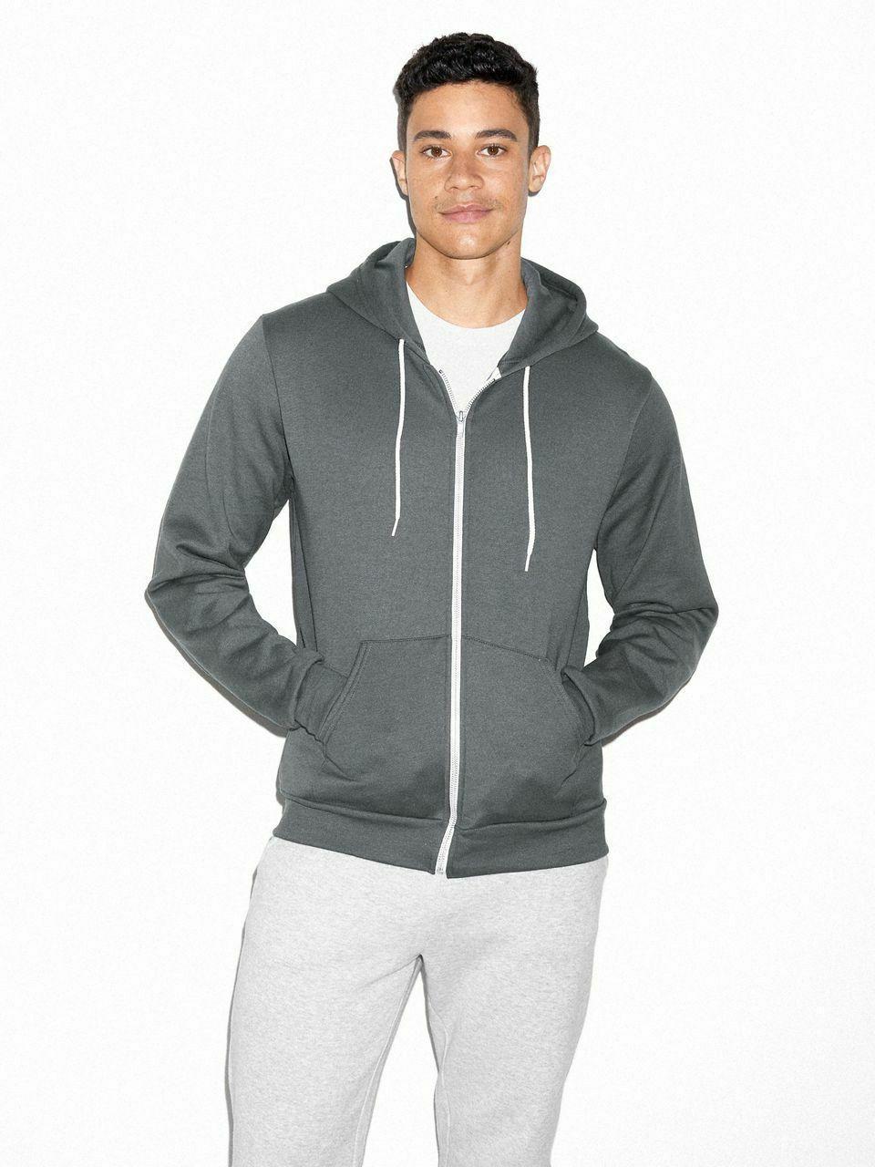 f497w unisex flex fleece zip hoodie stylish