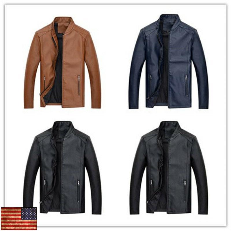 fashion leather jacket autumn handsome coat slim