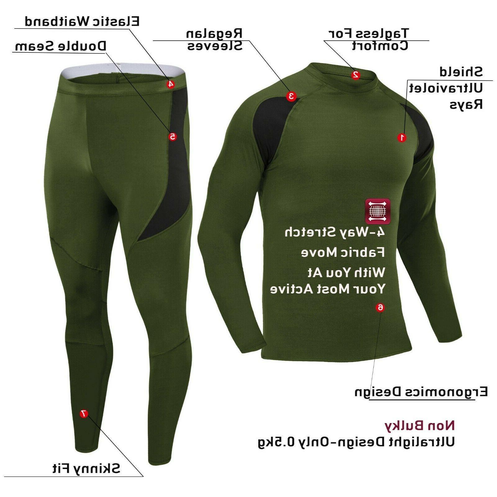 TACVASEN Fleece Underwear Winter Base