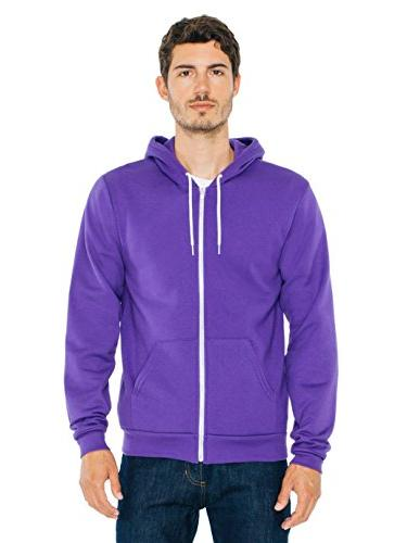 American Apparel Flex Fleece Hoodie, Purple, Large