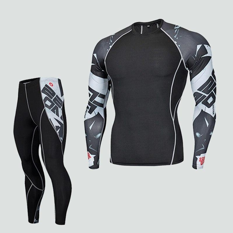 <font><b>Men's</b></font> Fitness long sleeve T gard MMA muscle tights <font><b>men's</b></font> tracksuit
