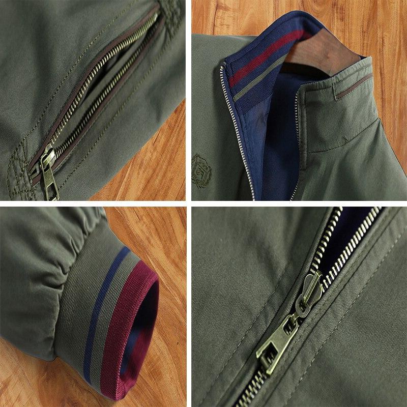DIMUSI <font><b>Jackets</b></font> Outwear Windbreaker Stand Man Clothing