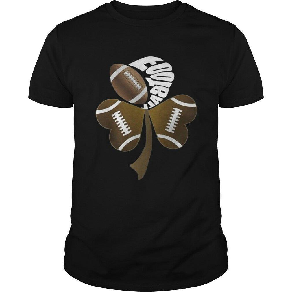 football shamrock heart t shirts cotton size