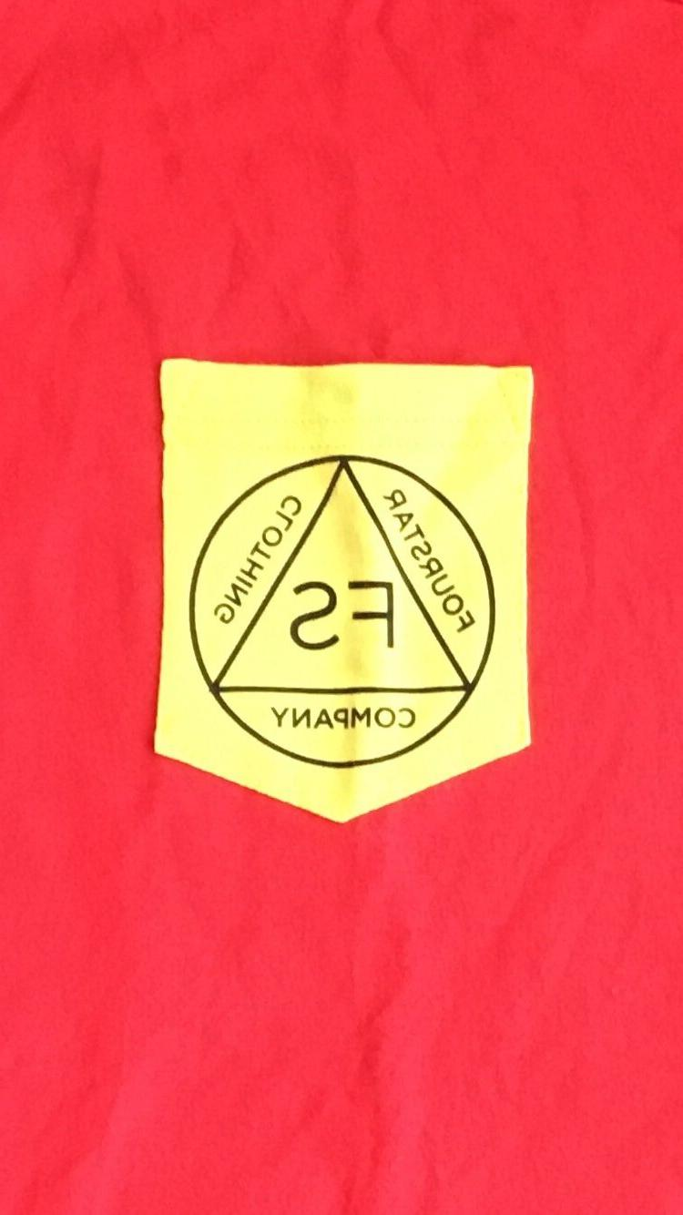 Fourstar Red T Shirt Yellow Pocket Size New