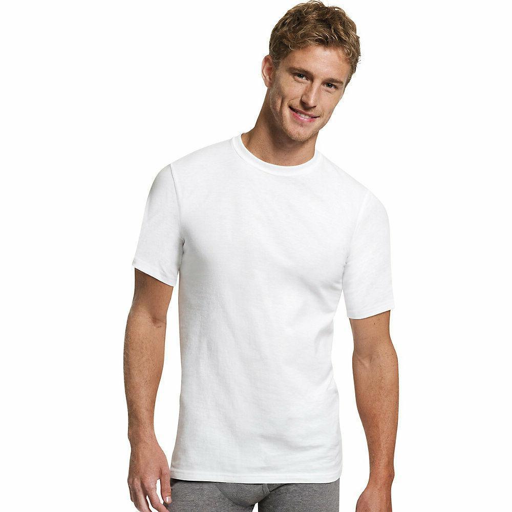 Hanes FreshIQ™ ComfortBlend® Men's Crewneck LT-3XLT 4-Pac