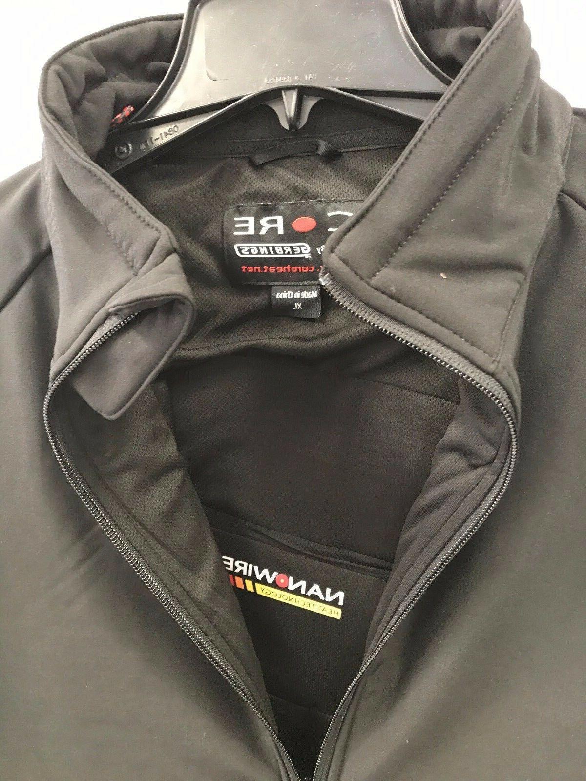 Gerbing Clothing Soft Shell Heat Men's Black Jacket Size MEDIUM