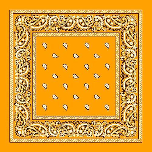 gold paisley bandana 3pcs