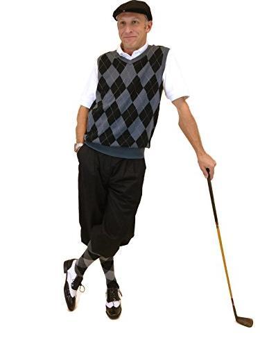 golf outfit blk cap