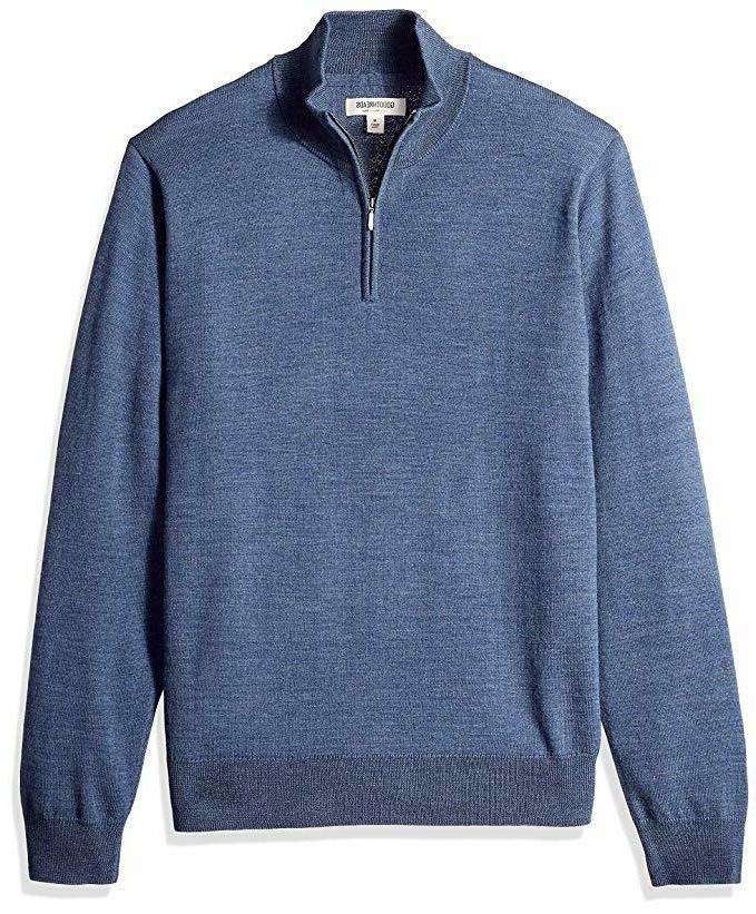 goodthreads men s merino wool quarter zip