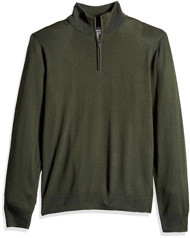 goodthreads men s merino wool quarter zip