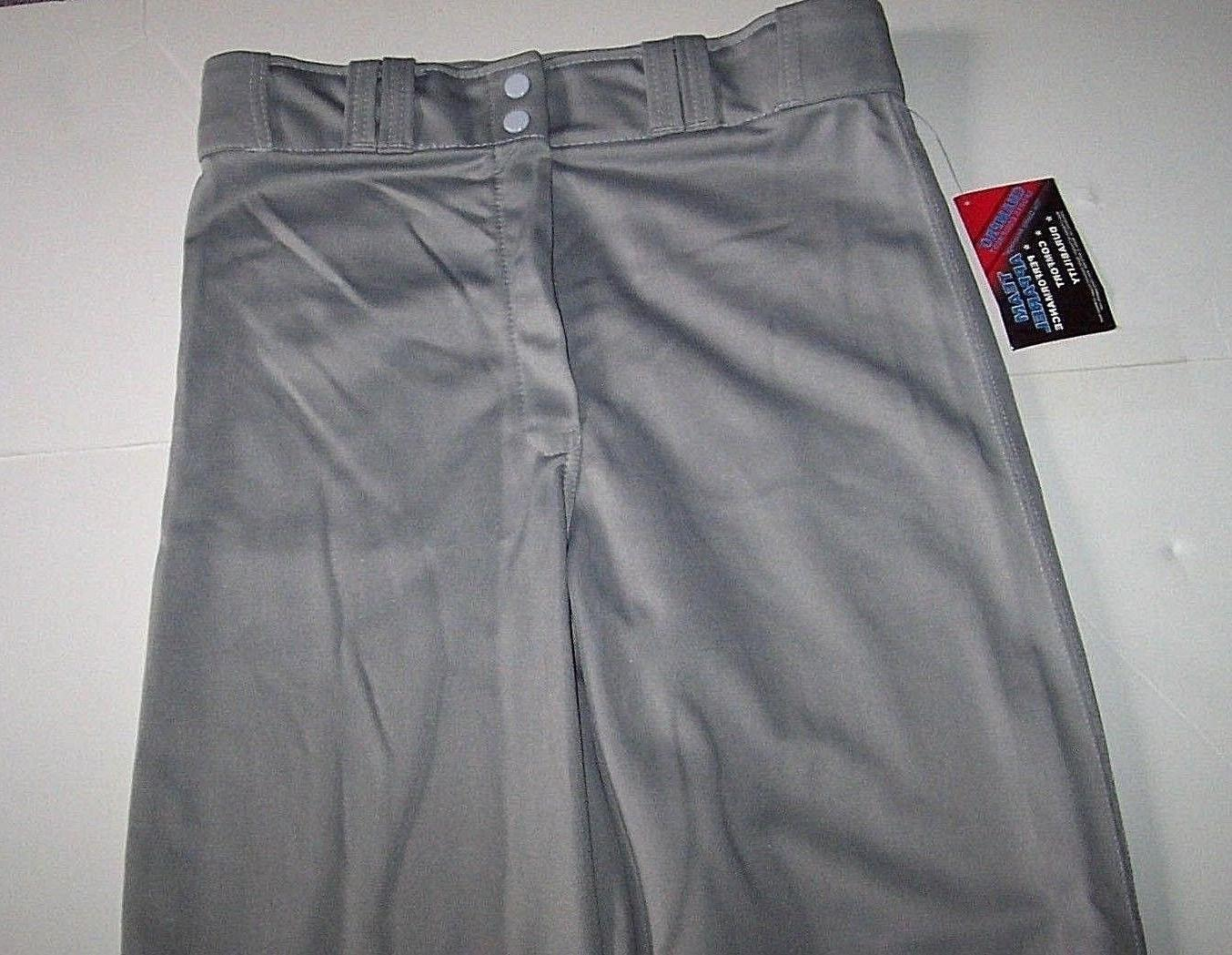 CHAMPRO GRAY BASEBALL PANTS MENS ADULT MEDIUM M 30-32 WAIST