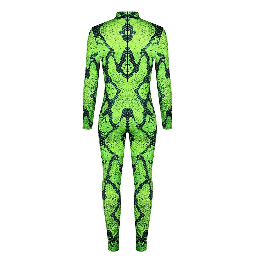 Green Snakeskin <font><b>Designer</b></font> Halloween Costumes