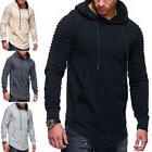 Gym Men Hoodie Top Fitness Sport Male Hooded Pullover Blouse