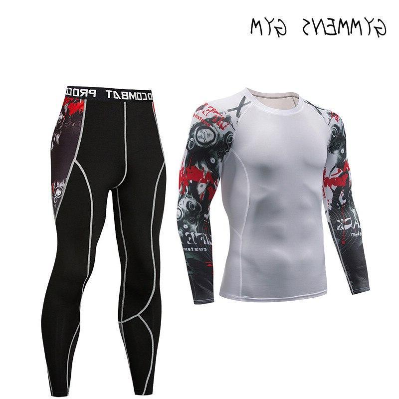 Stockings <font><b>Men</b></font> Fitness Long Set Rashgard Gym <font><b>Cycling</b></font> <font><b>Clothing</b></font>