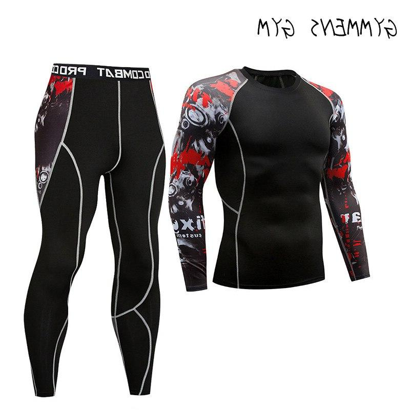 GYMMENS Stockings Fitness Running Long Sleeve Breathable Set Rashgard <font><b>Clothing</b></font>